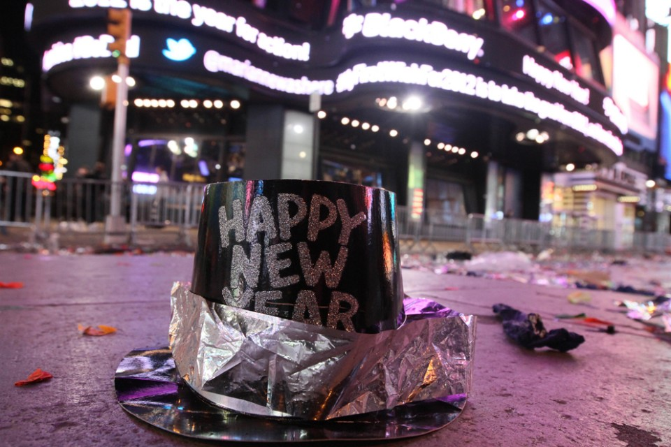 A-New-Years-hat-is-seen-among-other-debris-in-Times-Square-after-2012-New-Years-Eve-celebrations-in-New-York-Sunday-Jan.-1-2012.-Tina-Fineberg-aAssociated-Press-960x640
